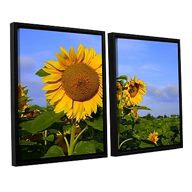 ArtWall Sunflower by Lindsey Janich 2 Piece Framed Photographic Print on Canvas Set; 32'' H x 48'' W