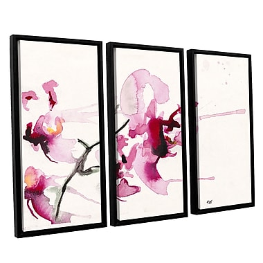 ArtWall Orchids Iii by Karin Johannesson 3 Piece Floater Framed Painting Print on Wrapped Canvas Set