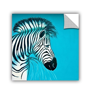 ArtWall Zebras Blue by Lindsey Janich Removable Painting Print; 14'' H x 14'' W