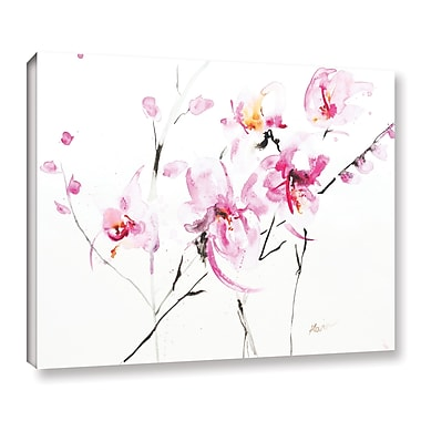 ArtWall Orchid 3 by Karin Johannesson Painting Print on Wrapped Canvas; 36'' H x 48'' W