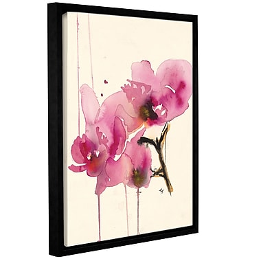 ArtWall Orchids Ii Karin Johannesson Framed Painting Print on Canvas; 18'' H x 14'' W
