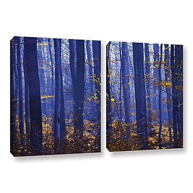 ArtWall Blue Forest by Lindsey Janich 2 Piece Photographic Print on Wrapped Canvas Set