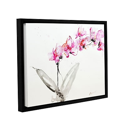 ArtWall Orchid 2 by Karin Johannesson Framed Painting Print on Canvas; 24'' H x 32'' W