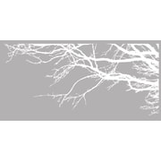 Innovative Stencils Tree Top Branches w/ Birds Wall Decal; White