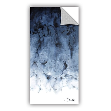 ArtWall Black Watery by Shiela Gosselin Removable Painting Print; 12'' H x 24'' W