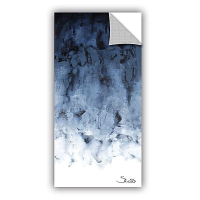 ArtWall Black Watery by Shiela Gosselin Removable Painting Print; 24'' H x 48'' W