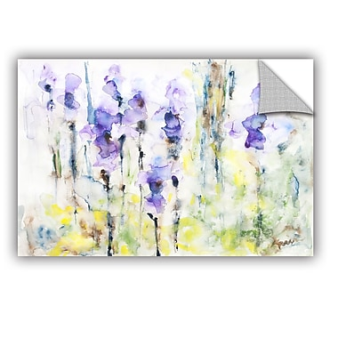 ArtWall Irises by Karin Johannesson Removable Painting Print; 16'' H x 24'' W