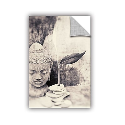 ArtWall Black And White Buddha by Elena Ray Removable Photographic Print; 16'' H x 24'' W