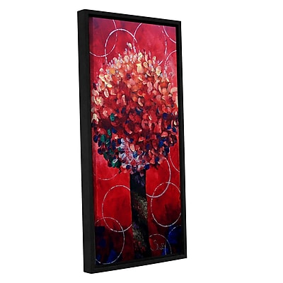 ArtWall Red Lolli Pop by Shiela Gosselin Framed Painting Print on Wrapped Canvas; 36'' H x 18'' W
