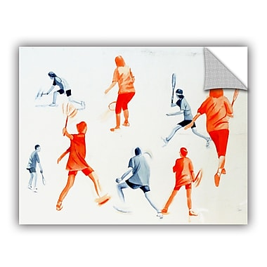 ArtWall Swuahs Players by Lindsey Janich Removable Painting Print; 14'' H x 18'' W