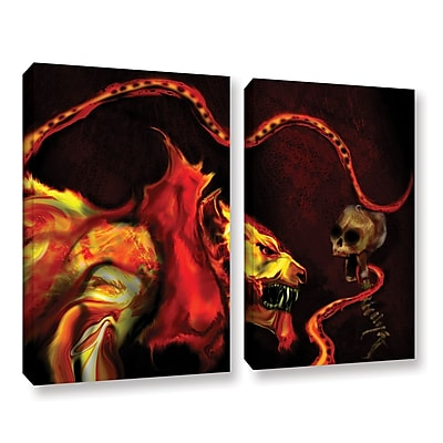 ArtWall Shadow Of The Beast by Michael L Stewart 2 Piece Graphic Art on Wrapped Canvas Set