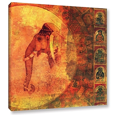 ArtWall Buddhist Elephant by Elena Ray Graphic Art on Wrapped Canvas; 18'' H x 18'' W