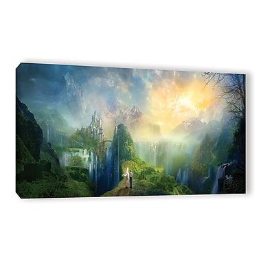 ArtWall Road To Oalovah by Philip Straub Graphic Art on Wrapped Canvas; 24'' H x 48'' W