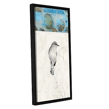ArtWall Mocking Bird Abstract by Elena Ray Framed Graphic Art on Wrapped Canvas; 48'' H x 24'' W