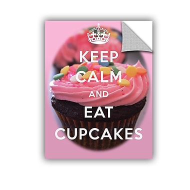 ArtWall Keep Calm And Eat Cupcakes by Art D Signer Kcco Textual Art; 32'' H x 24'' W
