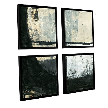 ArtWall Black Ink by Elena Ray 4 Piece Framed Graphic Art on Canvas Set; 36'' H x 36'' W