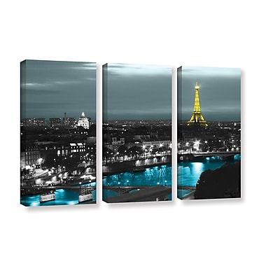 ArtWall Paris by Revolver Ocelot 3 Piece Photographic Print on Wrapped Canvas Set; 36'' H x 54'' W