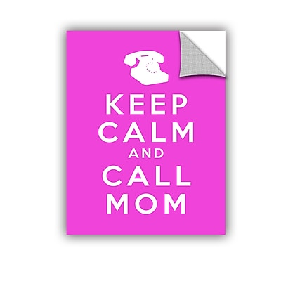 ArtWall Keep Calm and Call Mom by Art D Signer Kcco Textual Art; 24'' H x 18'' W