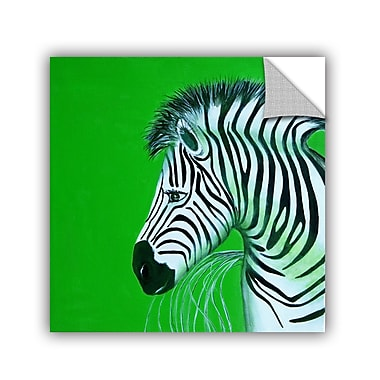 ArtWall Zebras Green by Lindsey Janich Removable Painting Print; 36'' H x 36'' W
