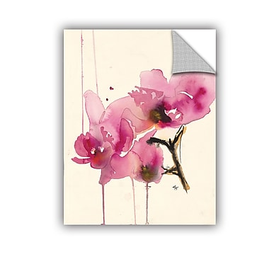 ArtWall Orchids Ii by Karin Johannesson Removable Painting Print; 48'' H x 36'' W