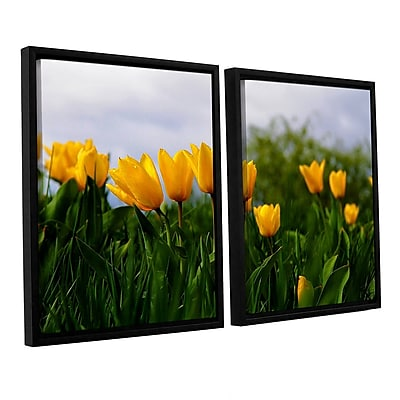 ArtWall Tulips by Lindsey Janich 2 Piece Framed Photographic Print on Canvas Set; 32'' H x 48'' W