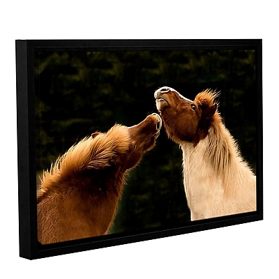 ArtWall Kissme1A by Lindsey Janich Framed Photographic Print on Wrapped Canvas; 24'' H x 36'' W