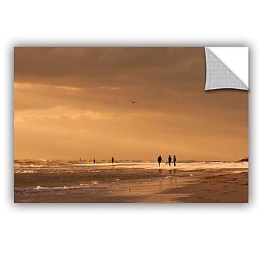 ArtWall Walkers Siesta Key by Lindsey Janich Photographic Print; 24'' H x 36'' W