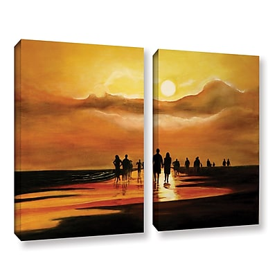 ArtWall Sunart1B by Lindsey Janich 2 Piece Painting Print on Wrapped Canvas Set; 18'' H x 24'' W