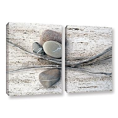 ArtWall Still Life Sticks Stones by Elena Ray 2 Piece Photographic Print on Wrapped Canvas Set