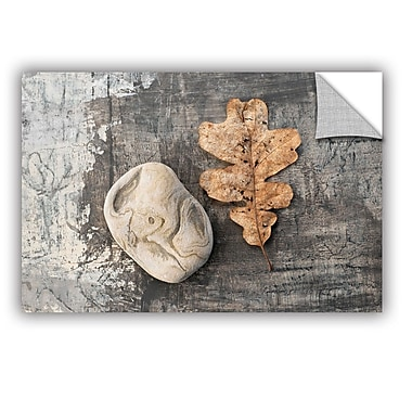 ArtWall Still Life Leaf Stone by Elena Ray Removable Photographic Print; 32'' H x 48'' W