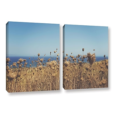 ArtWall Close up Field by Revolver Ocelot 2 Piece Photographic Print on Wrapped Canvas Set