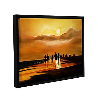 ArtWall Sunart1B byLindsey Janich Framed Painting Print on Wrapped Canvas; 24'' H x 32'' W