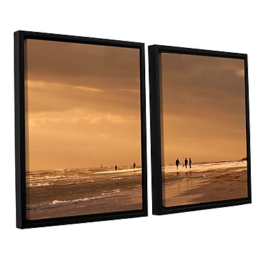 ArtWall Walkers Siesta Key by Lindsey Janich 2 Piece Framed Photographic Print on Canvas Set