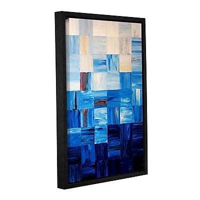 ArtWall Bluesquares by Shiela Gosselin Framed Painting Print on Wrapped Canvas; 18'' H x 12'' W