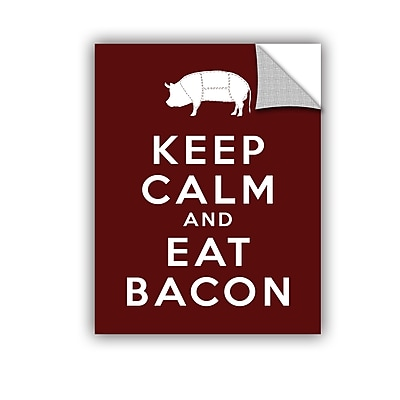 ArtWall Keep Calm and Eat Bacon by Art D Signer Kcco Textual Art; 24'' H x 18'' W