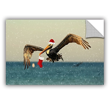 ArtWall Christmas Pelican 1 by Lindsey Janich Removable Photographic Print; 16'' H x 24'' W