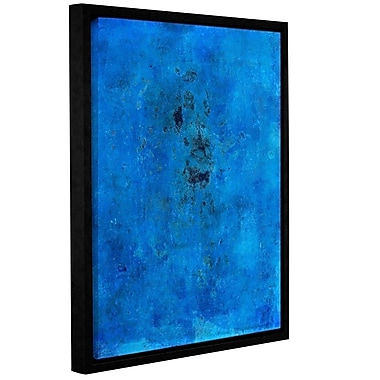 ArtWall Blue Grunge by Elena Ray Framed Painting Print on Wrapped Canvas; 18'' H x 14'' W