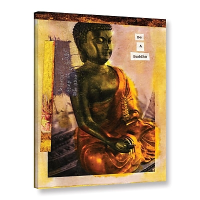 ArtWall Be a Buddha by Elena Ray Graphic Art on Wrapped Canvas; 18'' H x 14'' W WYF078278525577