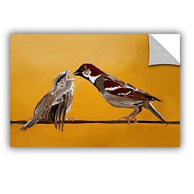 ArtWall Sparrows by Lindsey Janich Removable Painting Print; 32'' H x 48'' W