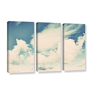ArtWall Clouds on a Beautiful Day by Elena Ray 3 Piece Painting Print on Wrapped Canvas Set