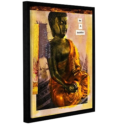 ArtWall Be a Buddha by Elena Ray Framed Graphic Art on Wrapped Canvas; 24'' H x 18'' W