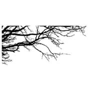 Innovative Stencils Tree Top Oak Branches Wall Decal; Black