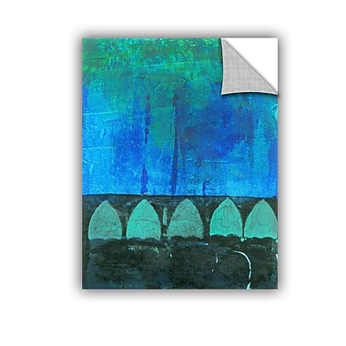 ArtWall Blue-Green Abstract by Elena Ray Painting Print; 18'' H x 14'' W
