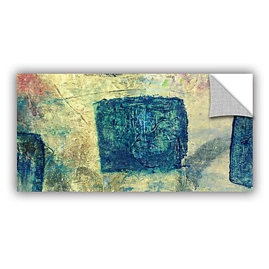 ArtWall Blue Golds by Elena Ray Painting Print; 24'' H x 48'' W