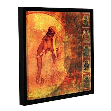 ArtWall Buddhist Elephant by Elena Ray Framed Graphic Art on Wrapped Canvas; 14'' H x 14'' W