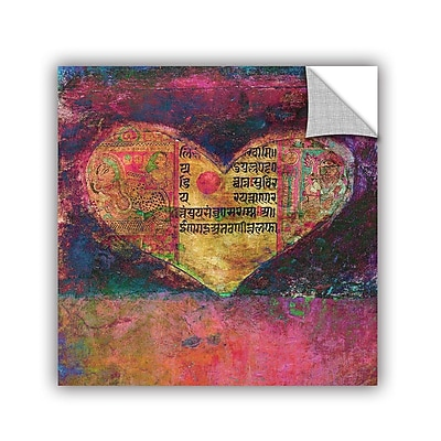 ArtWall Tantra Heart by Elena Ray Removable Painting Print; 18'' H x 18'' W