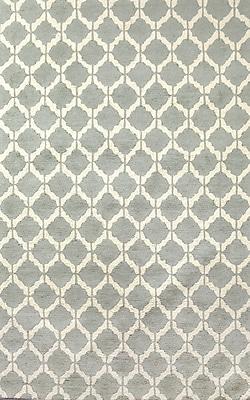 Tuft & Loom Callium Porcelain/Ivory Area Rug; 5' X 8'