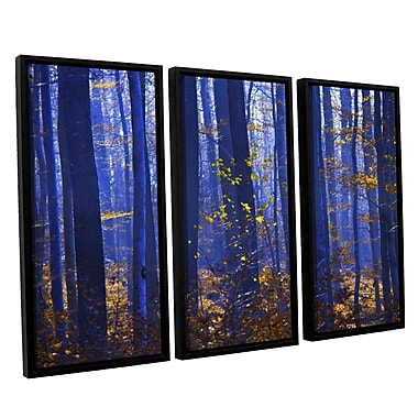 ArtWall 'Blue Forest' by Lindsey Janich 3 Piece Framed Photographic Print on Canvas Set