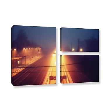 ArtWall 'Night Adventure' by Revolver Ocelot 3 Piece Photographic Print on Wrapped Canvas Set