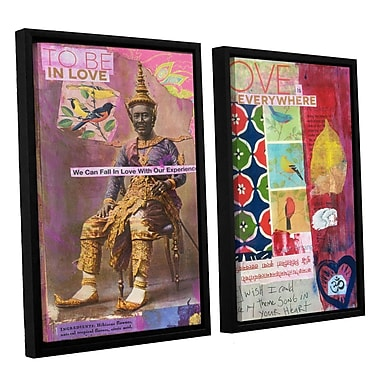 ArtWall Art Journal Love Is by Elena Ray 2 Piece Framed Painting Print on Canvas Set